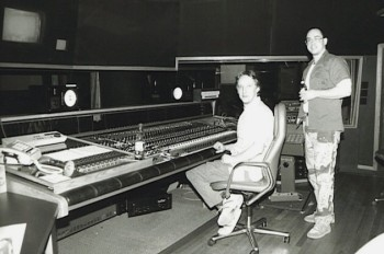 Iain and Danny at Chicago Recording Company 1987
